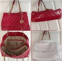 Women's red leather tote bag North Ogden, 84414
