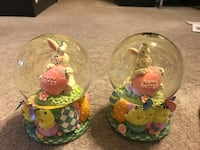 Easter Snow Globes