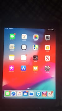 black iPad with red case