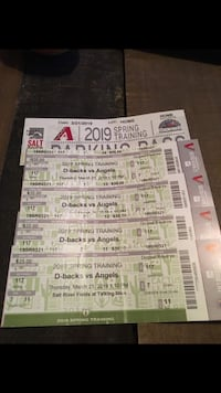D-backs v Angels Spring training tickets (4). Parking pass included Tempe, 85282