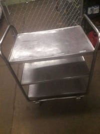 Stainless steel three tier cart with wheels  Buffalo, 14206