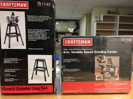 """Craftsman 6"""" variable speed grinding center and leg set"""