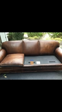 brown leather 2-seat sofa Wall Township, 07719