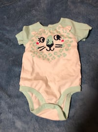 baby's white and green onesie
