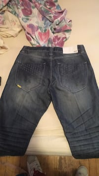 blue denim straight-cut jeans East Chicago, 46312