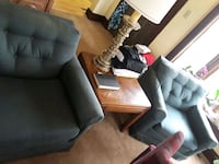 Two green sitting chairs and table if wanted  Hamilton, 45013