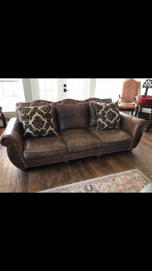 Leather Sofa and Chair (high end)