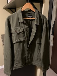 Men's olive denim jacket
