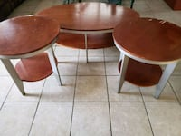 2 individual round and 1 oval brown wooden tables Bayamón, 00957