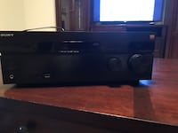 Black sony audio receiver