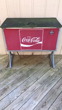red and black Coca-Cola wooden chest Raleigh, 27615