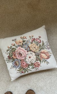 Vintage Pillow with flowers