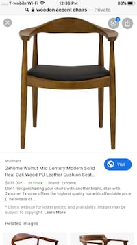 Accent wooden chair
