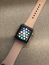 Rose Gold Apple Watch with pink band , case included and screen protector Rochester, 14609