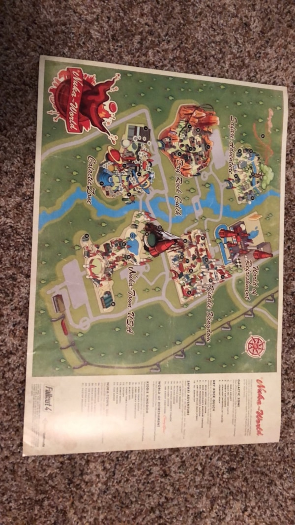 Used 2 Sided Nuka World Map And Nuka Girl Poster For Sale In Canton