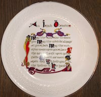 Donegal Parian Irish Marriage Blessing Plate 1128 29 km
