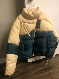 ASOS Color Block Padded / Bubble Jacket