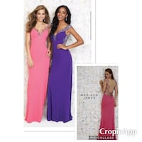 New With Tags Madison James Gown.  Size 6 & available in purple Mooresville, 46158