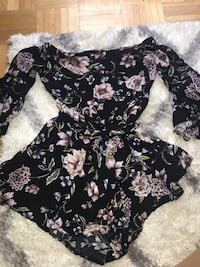 women's black,purple, and brown floral dress Vaughan, L4H 3B3