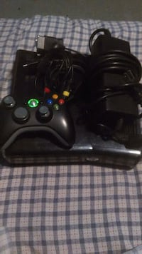 black Xbox 360 game console with controller Fresno, 93706