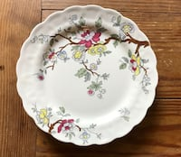 5 Vintage Booths Chinese Tree Salad Plates A5001, 5/8 inch