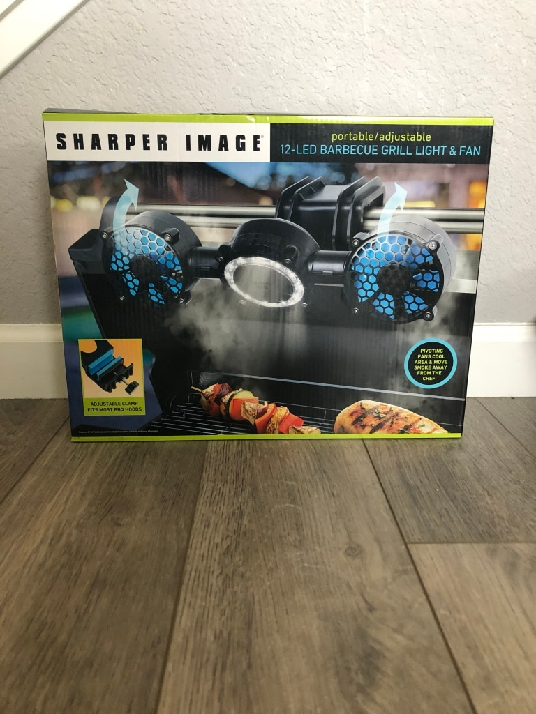 Photo Sharper Image BBQ Grill Light and Fan