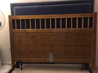 Queen headboard with bed frame for sale!