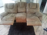 Beautiful  suede recliner couch