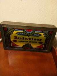 Vintage (oldddd) Budweiser Glass Light  Dallas, 75214