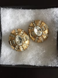 Austrian Crystals Clip on Earrings