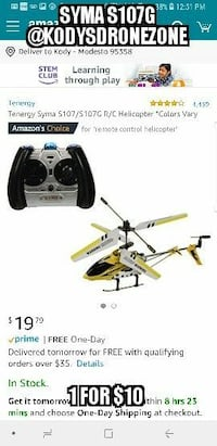 yellow and white RC helicopter screenshot Modesto, 95358