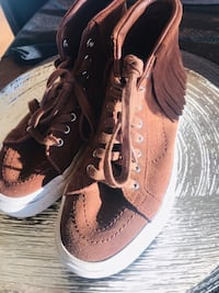 Pair of brown-and-black sneakers Aurora, 97002