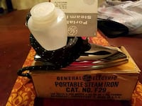 RETRO PORTABLE IRON!! IN BOX 1950'S Boardman, 44512