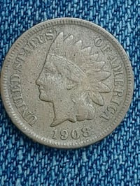 "rare 1908 ""S"" Indian head penny"