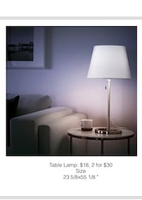 white/silver table lamp Chicago, 60602