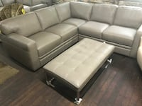 2 pc All Leather Sectional Rochdale, 01542