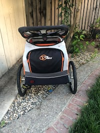 2 child jogger with bike attachment  Bought at Costco and used a handful of times San Jose, 95121