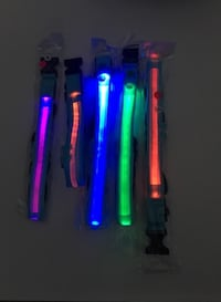 Reflective LED Lighted Collar w/Charger-Assorted Colours & Sizes