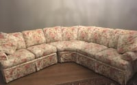 white and pink floral sectional couch Burr Ridge, 60527