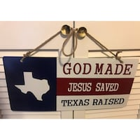 Texas God Made Medal Sign  Houston, 77077