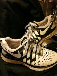 pair of white-and-black Nike basketball shoes Gulf Shores, 36542