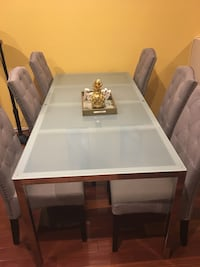 Glass Dining Table with 6 chairs Inglewood, 90302