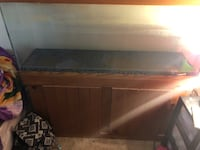 Brown wooden fish tank with stand and hood Jacksonville, 32208
