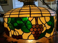 """24"""". Antique Tiffany style stained glass ceiling lamp light Arlington"""