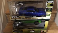 Blue and black rc car toy box