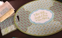 Beautiful decorative tray & 2 matching hand towels  Oakton, 22124