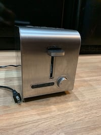 silver and black toaster