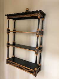 Black lacquer and Gold wall etagere Arnold, 21012