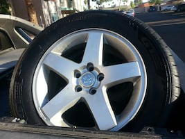 Dodge Charger Tires and Rims. Size 17'' 5lugs