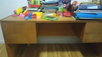 brown wooden table with drawer Longueuil, J4M 1M3